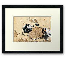 Grunge wall in closeup Framed Print