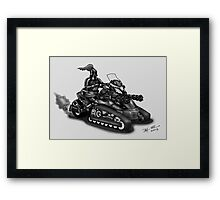STEAMPUNK 'CAN AM' SPYDER STYLE KNIGHT RIDER MOTORCYCLE (BLACK AND WHITE) Framed Print
