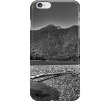 Mountain Stream BW iPhone Case/Skin