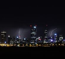 Thunderstorm Over Perth  by EOS20