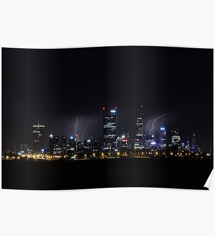 Thunderstorm Over Perth  Poster