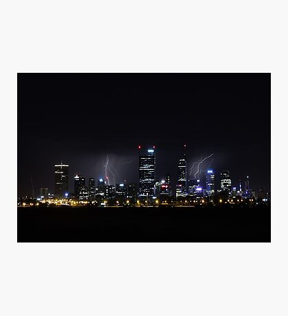 Thunderstorm Over Perth  Photographic Print