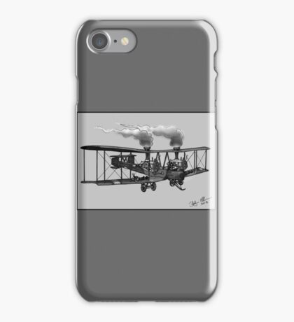 WW1 VICKERS VIMY AEROPLANE BOMBER STEAMPUNK (BLACK AND WHITE) iPhone Case/Skin