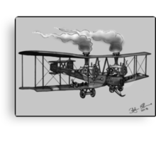 WW1 VICKERS VIMY AEROPLANE BOMBER STEAMPUNK (BLACK AND WHITE) Canvas Print