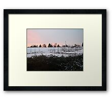 snow sunrise Framed Print