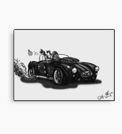 STEAMPUNK AC COBRA CAR (BLACK AND WHITE) Canvas Print