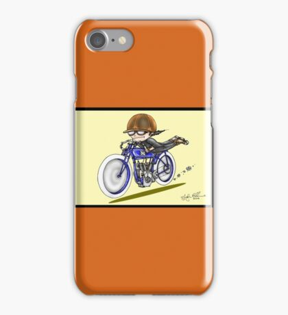 MOTORCYCLE EXCELSIOR STYLE (yellow) iPhone Case/Skin