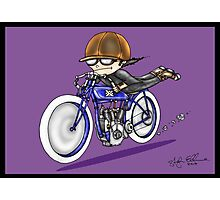 MOTORCYCLE EXCELSIOR STYLE (purple) Photographic Print