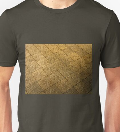 Star of David engraved in stone - Judaism Unisex T-Shirt