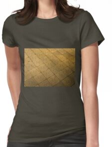 Star of David engraved in stone - Judaism Womens Fitted T-Shirt