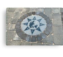 Compass directions wind rose Metal Print