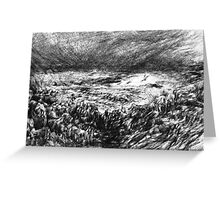 Winter Storm, Carmel  River Greeting Card