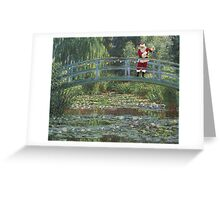 The Japanese Bridge At Christmas Time Greeting Card
