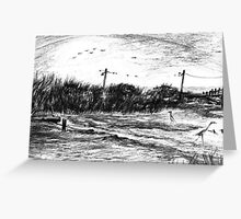 Winter Low Tide in Biloxi, Mississippi Greeting Card