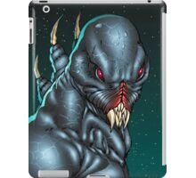 Red Eyed Evil Alien Sci-Fi Monster by Al Rio iPad Case/Skin
