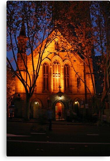 Church at Night by Sara Lamond