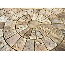 Display of stone floor tiles circle Photographic Print