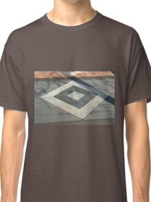 Details of geometric gray stone garden tiles Classic T-Shirt