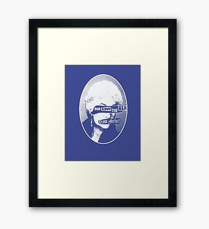 God Save the Bea (White) Framed Print