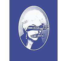God Save the Bea (White) Photographic Print