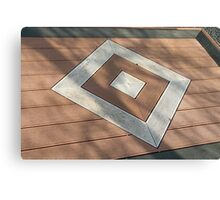 Details of geometric brown stone garden tiles Canvas Print
