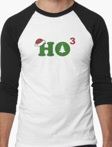 Ho Cubed Merry Christmas Men's Baseball ¾ T-Shirt