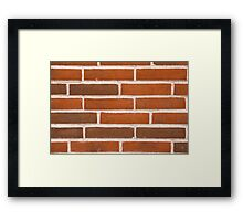 Background of brick wall texture Framed Print