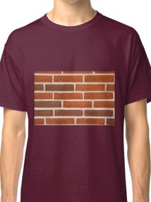 Background of brick wall texture Classic T-Shirt