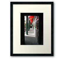 Lanterns in the Doorway Framed Print