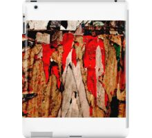Torn Posters Red iPad Case/Skin