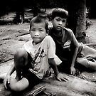 Angkor boys by Anthony Begovic
