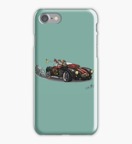 Steampunk Cobra (Green) iPhone Case/Skin