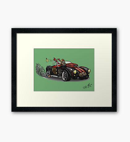 Steampunk Cobra (Green) Framed Print
