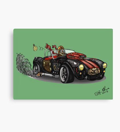 Steampunk Cobra (Green) Canvas Print