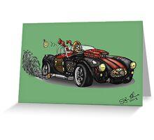 Steampunk Cobra (Green) Greeting Card