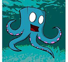 Happy Cube Headed Octopus Photographic Print