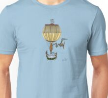 STEAMPUNK HOT AIR BALLOON (Gold) Unisex T-Shirt
