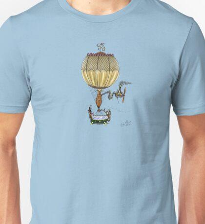 STEAMPUNK HOT AIR BALLOON (Gold) Unisex T-Shirt