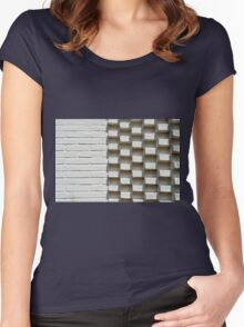 Abstract geometric background wall Women's Fitted Scoop T-Shirt