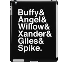 The Scooby Gang Classic White iPad Case/Skin