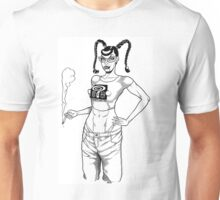 The Short & Curly Brat by John Howard Unisex T-Shirt