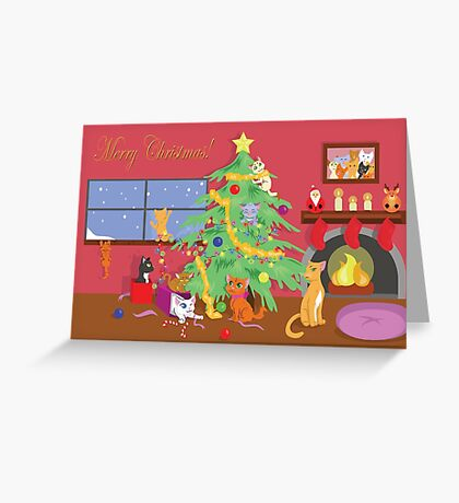 Kittens' First Christmas Greeting Card