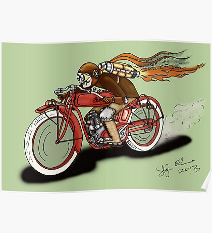 INDIAN MOTORCYCLE STEAMPUNK STYLE Poster