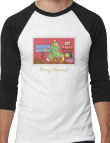 Kittens' First Christmas Men's Baseball ¾ T-Shirt