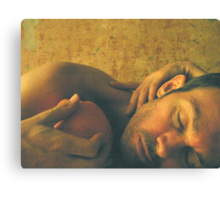 Reclining Male with Orange Canvas Print