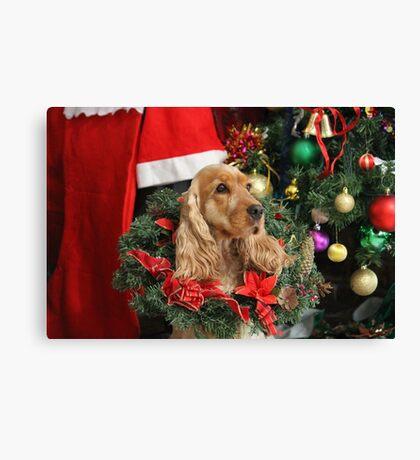 Merry Cocker Christmas Canvas Print