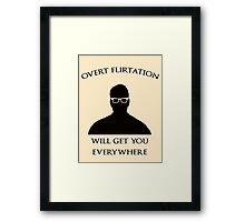 Overt Flirtation [Version 2] Framed Print