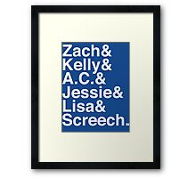 The Max Crew (Classic White) Framed Print