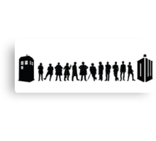 The Evolution of the Doctor Canvas Print