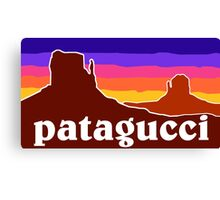 Patagucci Canyons Canvas Print